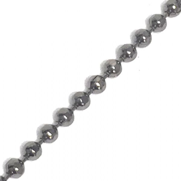 1.5mm faceted coloured ball chain - gun metal